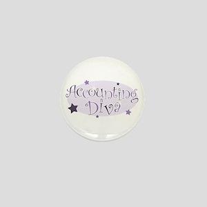 Accounting Diva [purple] Mini Button